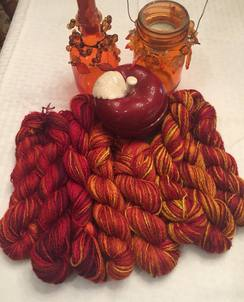 Hand painted suri yarn