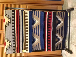 Navajo Pattern Saddle Blanket / Area Rug
