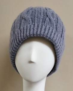 Dyed Cable Knit Beanies