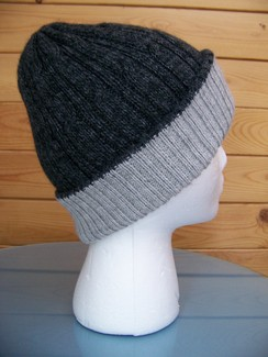 Photo of Reversible double knit alpaca hat