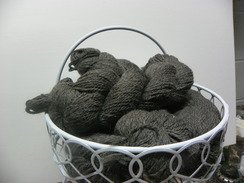 3 Ply Worsted Charcoal Grey  80% alpaca