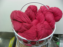 Photo of 3 Ply DK Red Alpaca 60% Mohair 40%