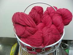 3 Ply DK Red Alpaca 60% Mohair 40%