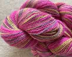 Miami Pink/Yellow Hand Dyed 2-ply Yarn