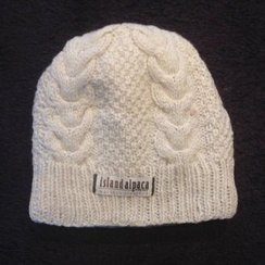 100% Alpaca Lined Cable Hat