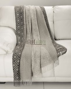 100% Baby Alpaca Diamond Throw