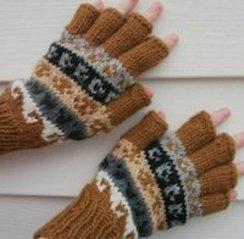 Rustic Alpaca HandKnit Fingerless Gloves