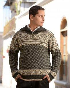 100% Alpaca Half-Zip Alpine Sweater