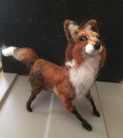 3-D Wool Felted Fox
