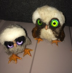 3-D Felted Baby Birds. (SOLD)