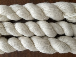 Photo of White 3 ply DK