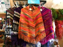 Colourful 100% Fine Alpaca Poncho