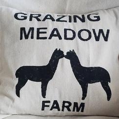 Alpaca Duo Throw Pillow