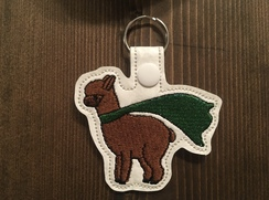 Photo of Lucky the Alpaca Key Fob