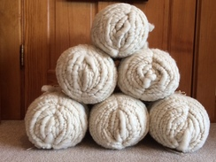 Photo of Yarn-100% corespun rug yarn White