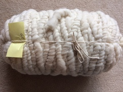 Photo of Yarn-100% corespun rug yarn.White
