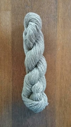 Photo of Dan Roe's Gray Romney Yarn