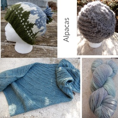 Alpaca and wool hats and scarves