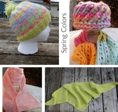 Pop of color hats and scarves
