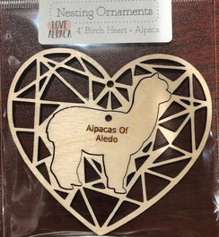 Wooden Engraved Heart Ornament