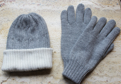 Knit Hat and Glove Set for Men.