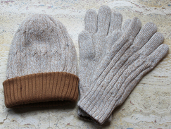 Knit Hat and Gloves Set for Women