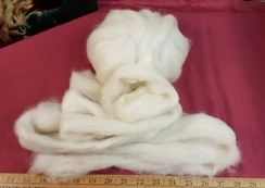 Homegrown Alpaca Roving in White