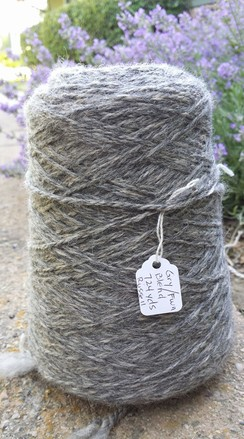Photo of Bulky Fawn and Grey Alpaca Yarn
