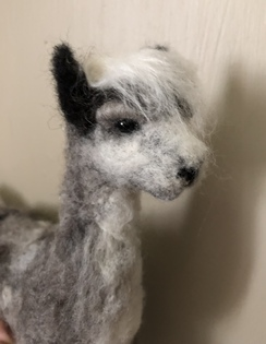 Felted alpaca Grey. (SOLD)