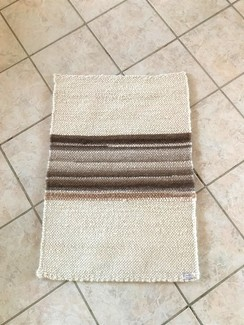 Cream with variegated brown stripes