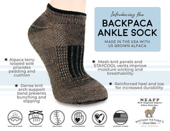 BackPaca Sock - Lightweight - Ankle Sock
