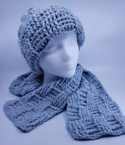 Basketweave Hat and Scarf Set