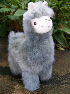 "Photo of 9"" standing stuffed alpaca"