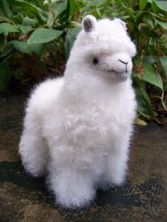 "Photo of 9"" standing stuffed alpaca"