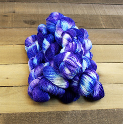Photo of 3 Ply DK Yarn Violet Patch