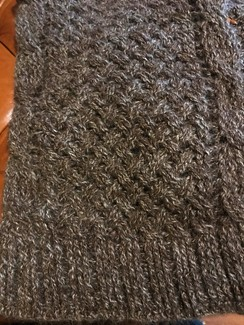 Photo of Extra large cable scarf