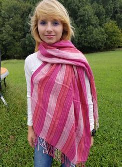 Alpaca woven scarf shawl