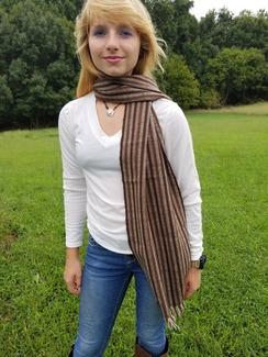 Woven Brown alpaca scarf