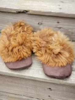 Alpaca suede fur slippers
