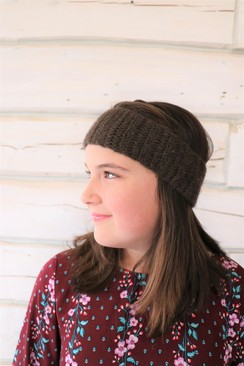 Photo of 100% Baby Yak Down Crochet Headband XL