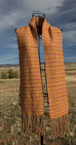 Photo of Autumn Leaves Woven Scarf