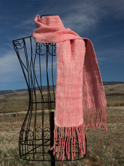 SOLD! Pretty in Pink Woven Scarf