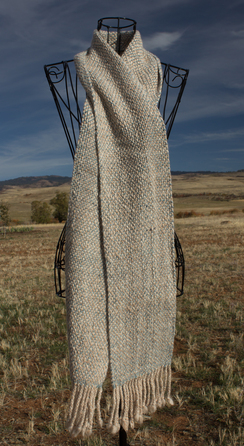 SOLD! Bulky Country Tweed Woven Scarf