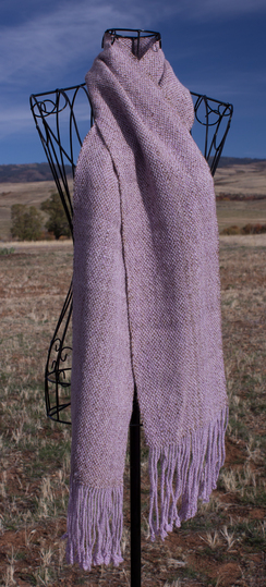 SOLD! Lovely Lavender Woven Scarf
