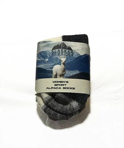 Sport Socks by Alaskan Alpacas