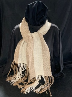 Photo of Woven Suri Alpaca Scarf 4 (3-Stripe)