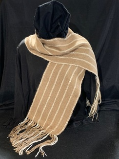 Photo of Woven Suri Alpaca Scarf 6 (Pin-Stripe)