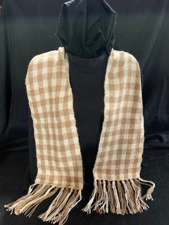 Photo of Woven Suri Alpaca Scarf 9 (Checkered)