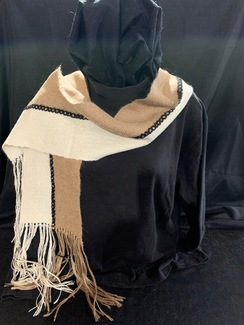 Photo of Woven Suri Alpaca Scarf  10 (2-stripe)