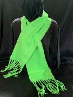Photo of Woven Suri Alpaca Scarf  11 (Dye Green)